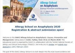 EAACI Allergy School on Anaphylaxis