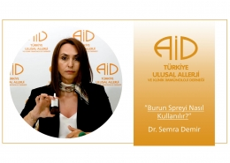 Dr. Semra Demir Burun Spreyi kullanımını anlatıyor